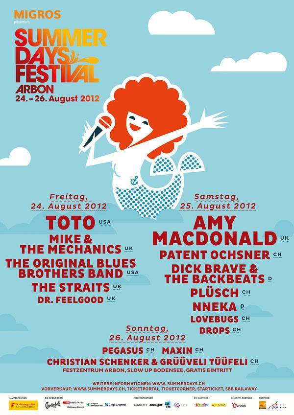 Plakat Summerdays Festival 2012