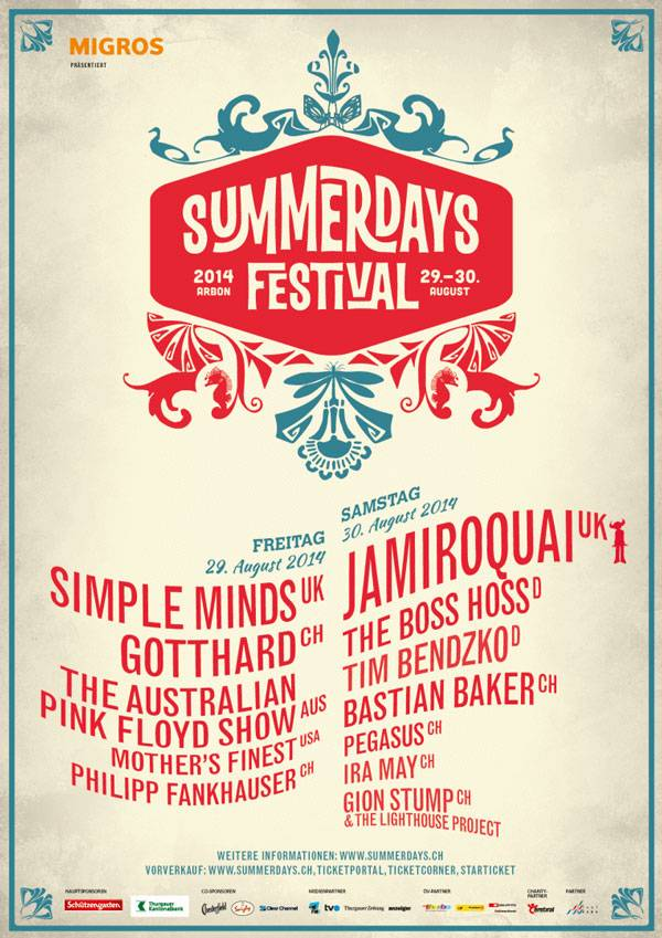 Plakat Summerdays Festival 2014