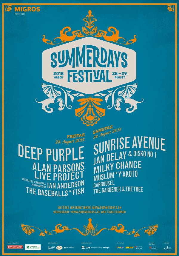 Plakat Summerdays Festival 2015